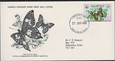 MAURITIUS 469 20c Citrus BUTTERFLY FDC 1978
