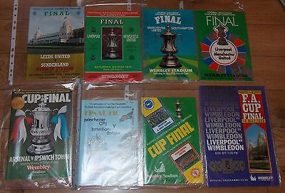 SUPERB LOT OF 8 1970's & 1980's FA CUP FINAL FOOTBALL PROGRAMMES