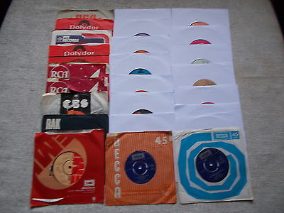 """JOB LOT COLLECTION 25  - 7"""" SINGLES 45rpm  MIXED 1970's"""