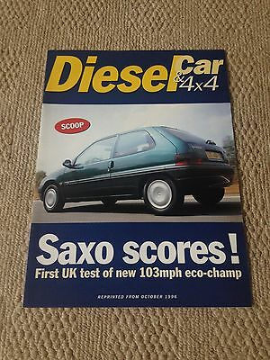 Citroen Saxo 1.5D Sx (Diesel) Full Road Test Reprint Booklet From 10/1996