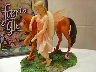 """Faerie Glen Figure """"sharing"""" Beautiful Fairy With  Her Horse Boxed"""