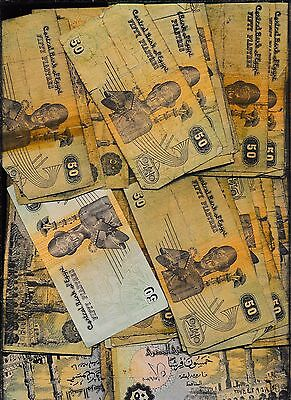 Egypt Lower Grade Lot Of Notes - 50 Notes -  Greens - A Buy