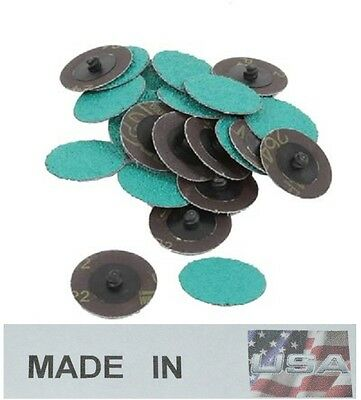 "3M Green Corps Roloc Grinding Discs, 2"" 36-Grit: 01397 (25) MADE IN USA"