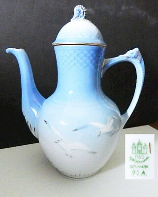 Bing & Grondahl SEAGULL 91A Coffee Pot, EXC Condition