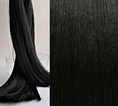 BLACKEST BLACK Saran Doll Hair for Rerooting, Suit Ever After/Monster High