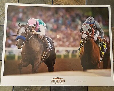 Arrogate 2016 Breeders Cup Poster and  2017 Pegasus & Dubai World Cup  - M Smith