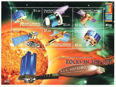 ROCKS IN THE SKY Space Exploration Probes/Satellites Stamp Sheet #2/2000 Grenada