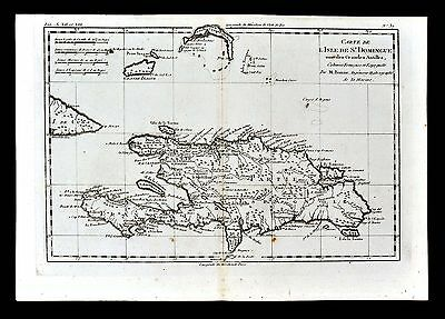 1779 Bonne Map - Santo Domingo Dominican Republic Haiti Grand Cayman West Indies