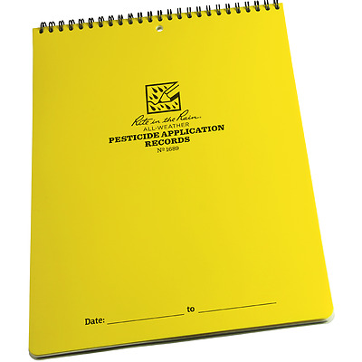 Rite in the Rain Pesticide Application Polydura Record Book All-weather 1689