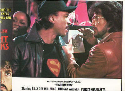 Nighthawks Sylvester Stallone Billy Dee Williams Hauer Original Lobby Card #2