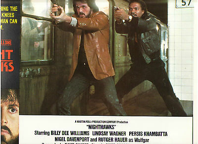 Nighthawks Sylvester Stallone Billy Dee Williams Rutger Hauer Orig Lobby Card