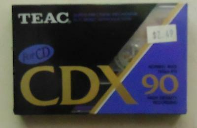 TEAC CDX90 Blank Cassette Tape Audio Brand New & Sealed