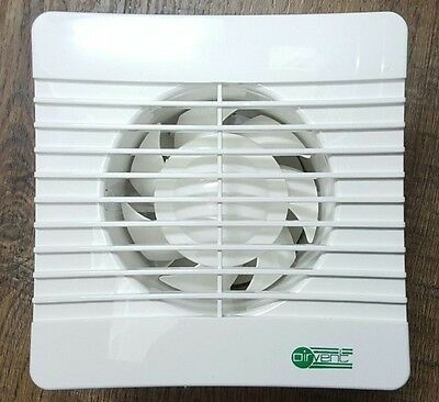 """Standard Extractor Fan 4"""" for WC Toilet Bathroom Airvent 100mm Low Profile Slim"""
