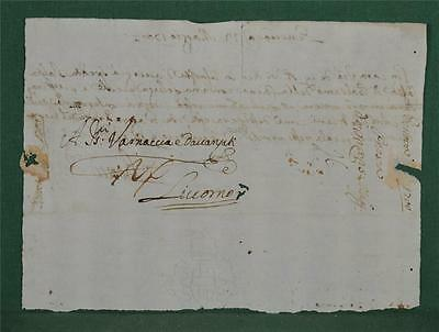 Antique Italian Letter Dated 1700 To Livorno - Italy Postal History   (Z11)