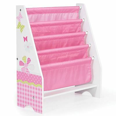 Girls Patchwork Sling Bookcase Butterflies Flowers