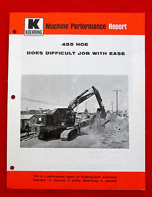 1960s vintage Koehring 455 Hoe Heavy Duty Equipment Performance Report golc2