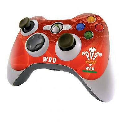 AUTHENTISCH WALES WRU RUGBY SELBSTKLEBENDE HÜLLE for XBOX 360 CONTROLLER LADEN