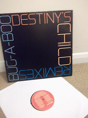 """Destiny's Child Bug-A-Boo Remixes 12"""" Vinyl Beyonce Wyclef Jean Writings On The"""