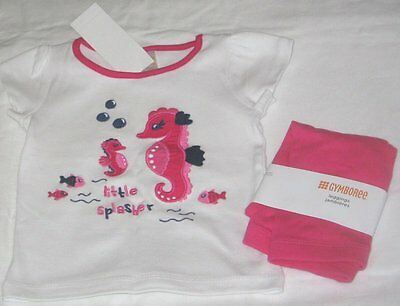 NWT Girls 12-18 Months GYMBOREE 2 Pc Outfit Leggings and Short Sleeve Top NEW