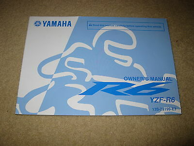 Yamaha Motorcycle Owners Manual for YZF-R6 (13S-28199-E3) (2010.06-0.4x1 CR)