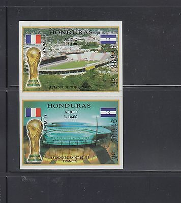Honduras 1998 World Cup Sc C1033 Rouletted Complete  Mint Never Hinged