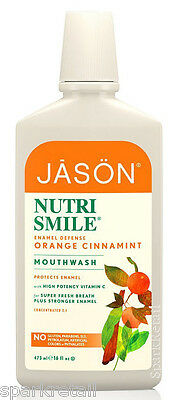 Jason NUTRI SMILE Orange Cinnamint Enamel Defense Nutrismile MOUTH WASH 473ml