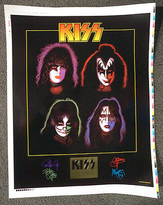 Alive Worldwide Solo Faces Commerative Poster KISS Reunion