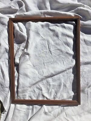 Vintage art crafts Deco period Wood Frame 16 X 20 litho B & W photo,map,painting