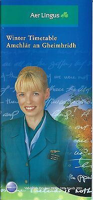 Airline Timetable - Aer Lingus - 29/10/00