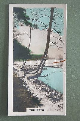 Cavanders - Camera Studies No. 19 The Path - Cigarette Card 1926 - fair cond