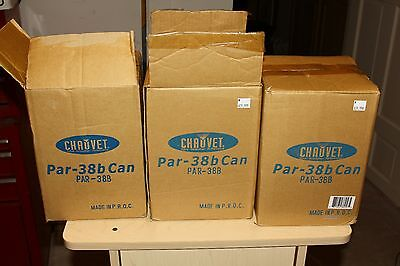 Chauvet Par-38B Can DJ Stage Lights Lot of 3 new nib nos led incandescent