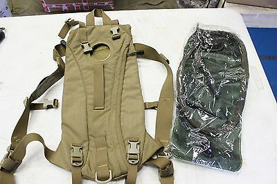 Military Issue Usmc Coyote Brown Hydration Carrier & New Reservoir Bladder Read