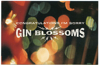 GIN BLOSSOMS, The Congratulations I'm Sorry 1996 U.S. A&M vintage promo POSTCARD