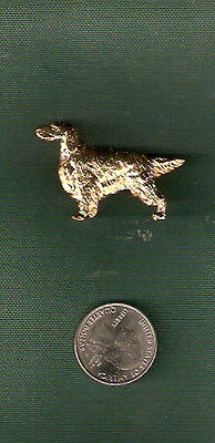 Irish or English Setter Gold Plated Brooch Pin Jewelry