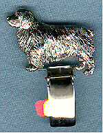 Clumber Spaniel Nickel Silver Ring Clip Pin Jewelry