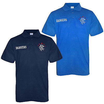 Rangers FC Official Football Gift Mens Crest Polo Shirt