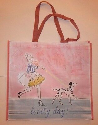 Reusable Shopping Travel Tote Bag Lovely Day Eco Friendly Marshalls New