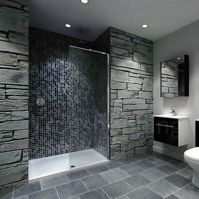 Recess Walk In Bathroom Shower Enclosure Tray With 800mm Glass Screen Panel