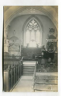 Harefield Church, Middlesex - interior - old real photo postcard