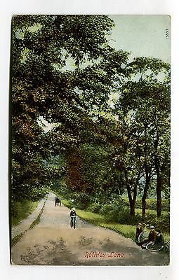 Rothley Lane - Leicestershire? - road, bicycles - early postcard