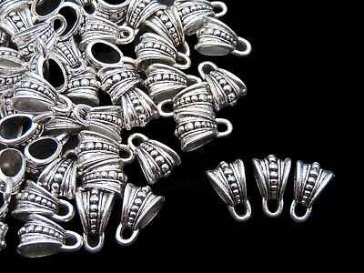 30 x Tibetan Silver Hollow Bails Jewellery Fit European Bracelets PICK STYLE ML
