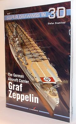 Kagero 16045 - Super Drawings in 3D - Graf Zeppelin Aircraft Carrier   New  Book