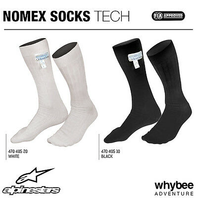 470405 Alpinestars RACING NOMEX KEVLAR SOCKS Fireproof Calf Length FIA 8856-2000