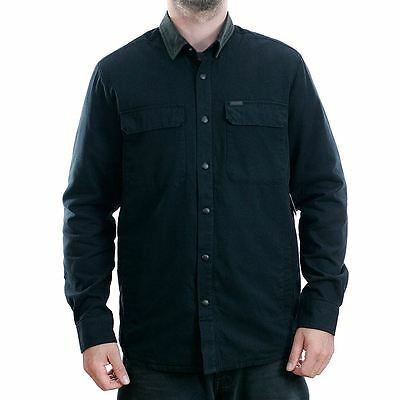 Volcom Larkin Long Sleeve Lined Shirt Black Skate Surf New Free Delivery