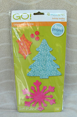 """Accuquilt Go! Fabric Cutting Die """"Holiday Medley"""" - #55043 ~ NEW"""