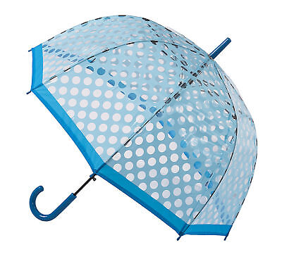 Soake Clear Dome Umbrella - Light Blue Polka Dot