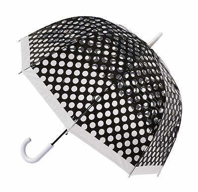 Soake Clear Dome Umbrella - Black Polka Dot
