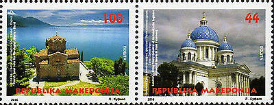 Macedonia 2016 Architecture, Joint issue with Russia, Churces, Religion, set MNH