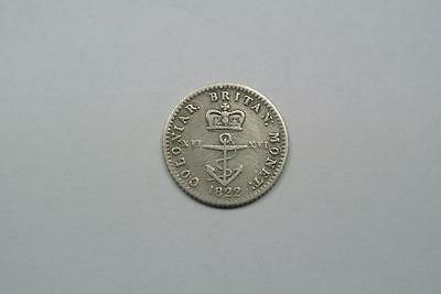 1822 British West Indies 1/16 Dollar, Fine Condition - C2513