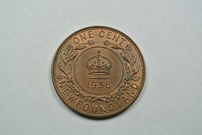 Red- Brown Unc 1936 Newfoundland Cent - C2563